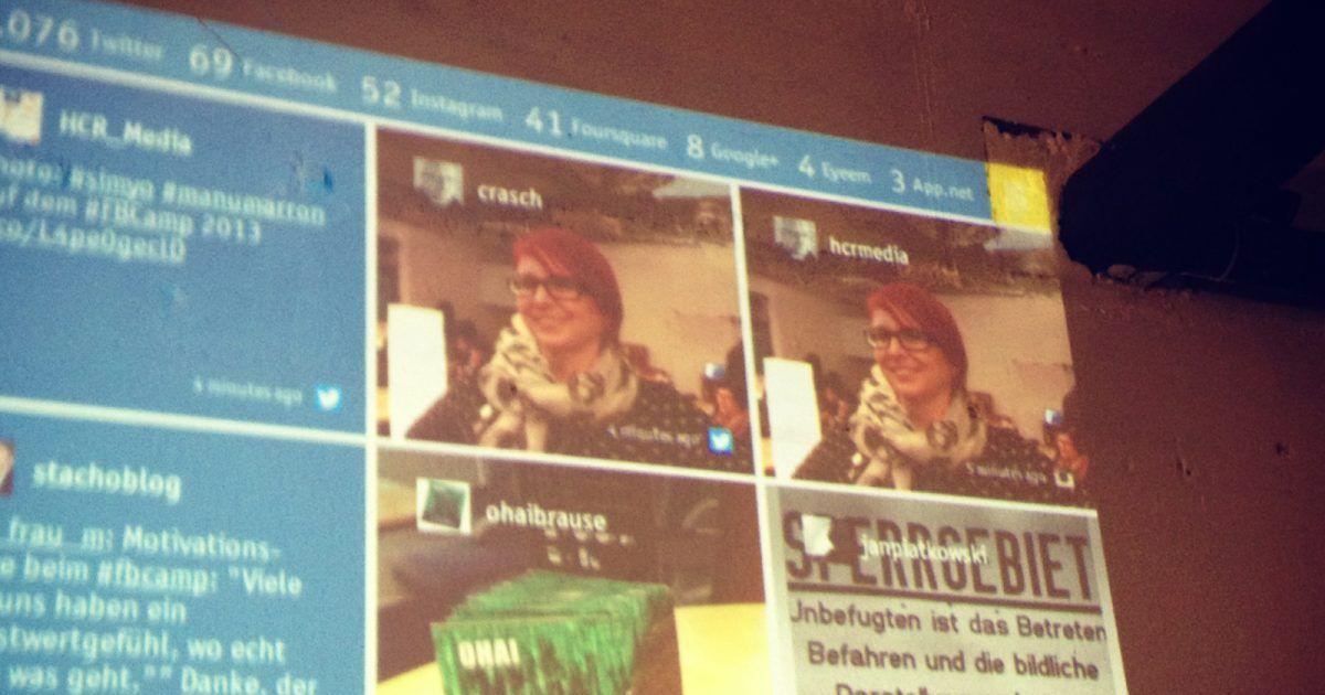 MonitoringCamp 2013: Social Wall