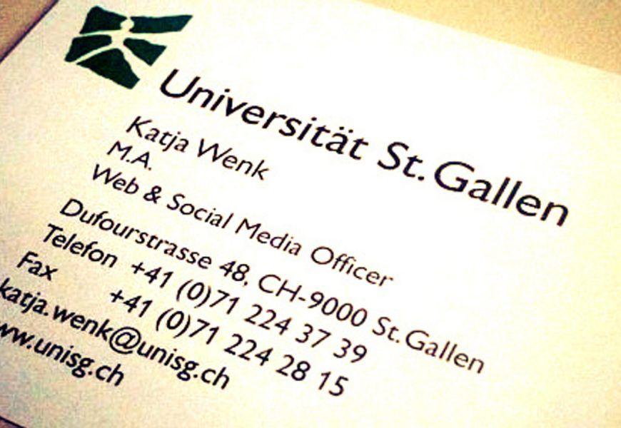 Social Media Officer an der HSG