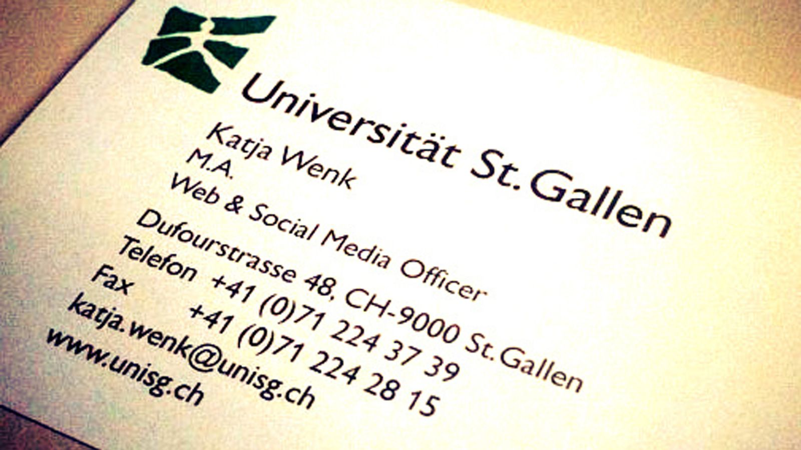 Social Media Officer an der HSG
